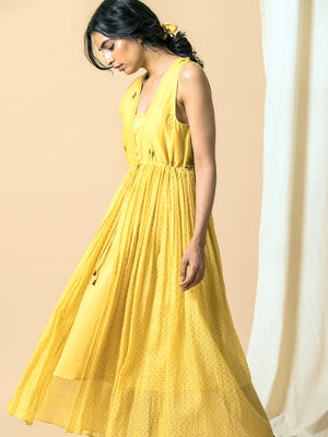Flaxen Maxi Dress - BunaStudio