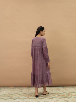 Grape Basket Tier Dress - BunaStudio