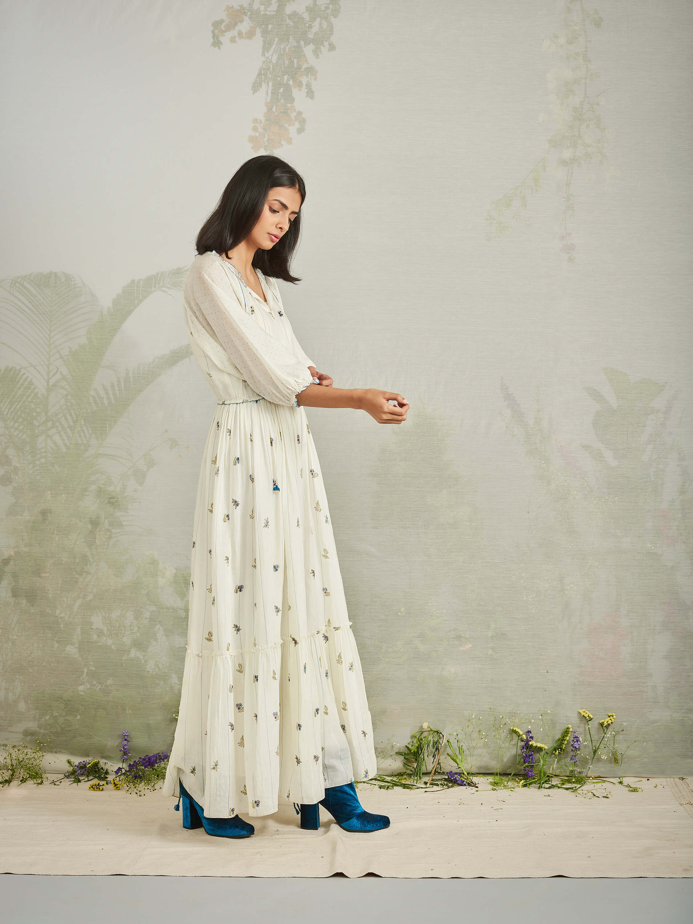 Bluebonnets Maxi Dress - BunaStudio