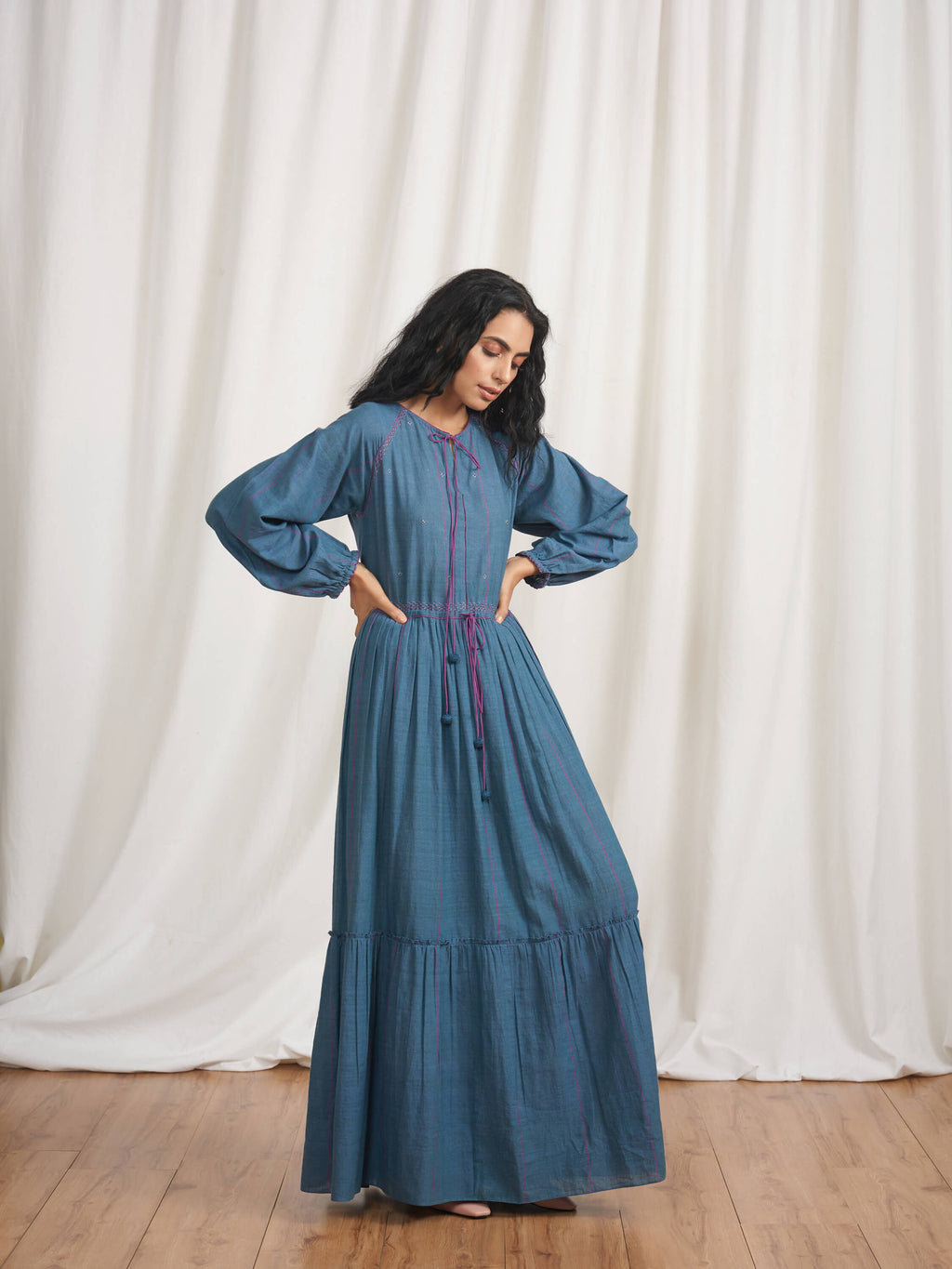 Cerulean Dreams Maxi Dress - BunaStudio