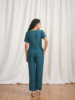 Fresco Trail Linen Blouse - BunaStudio