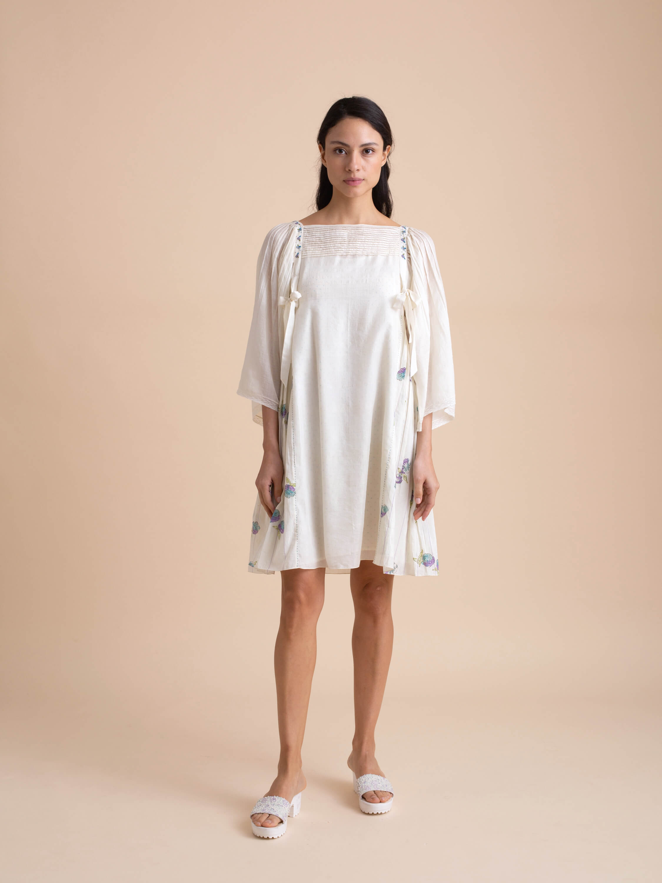 Ivory Bow Dress - BunaStudio