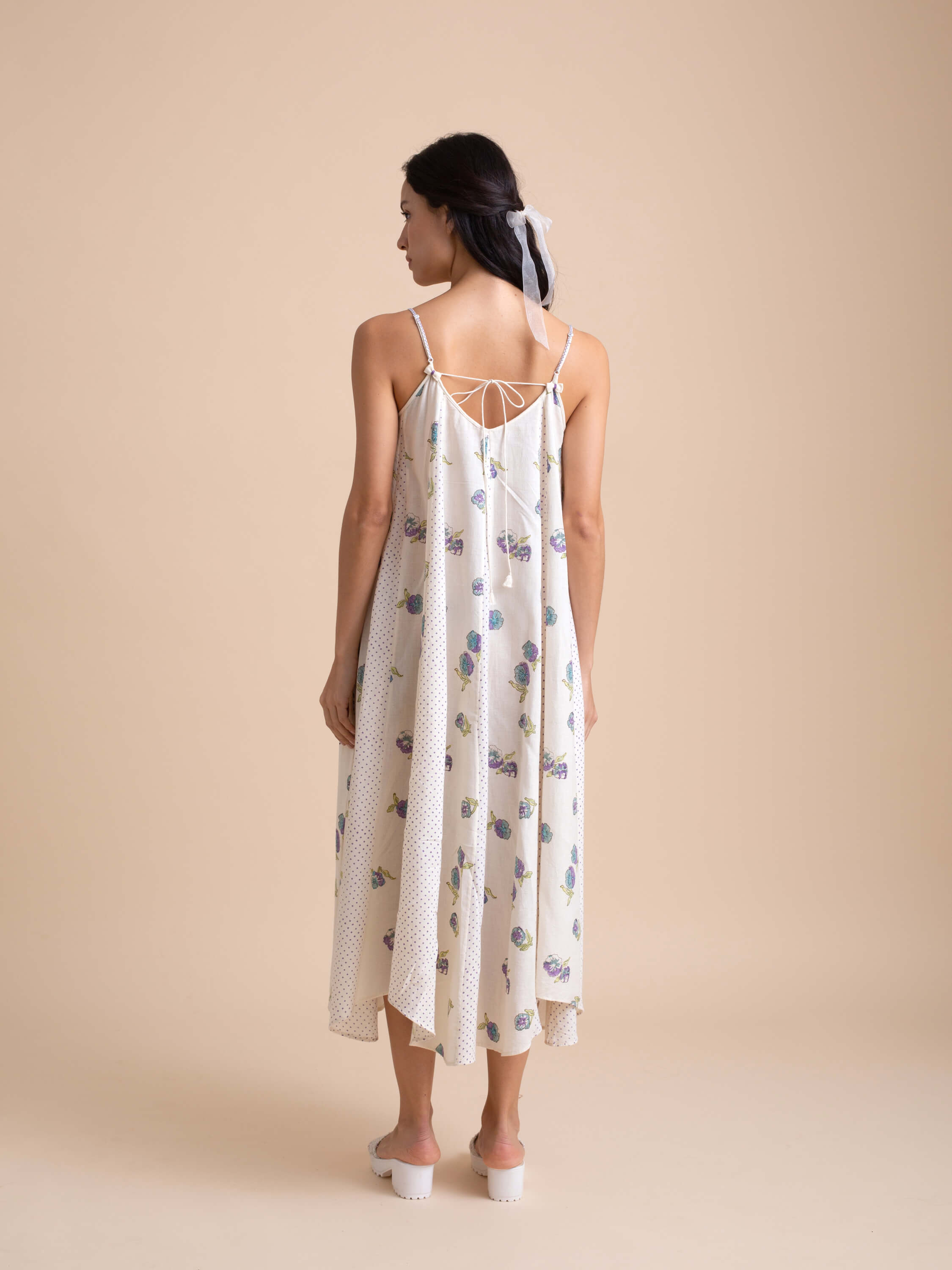 Pansies Tent Dress - BunaStudio