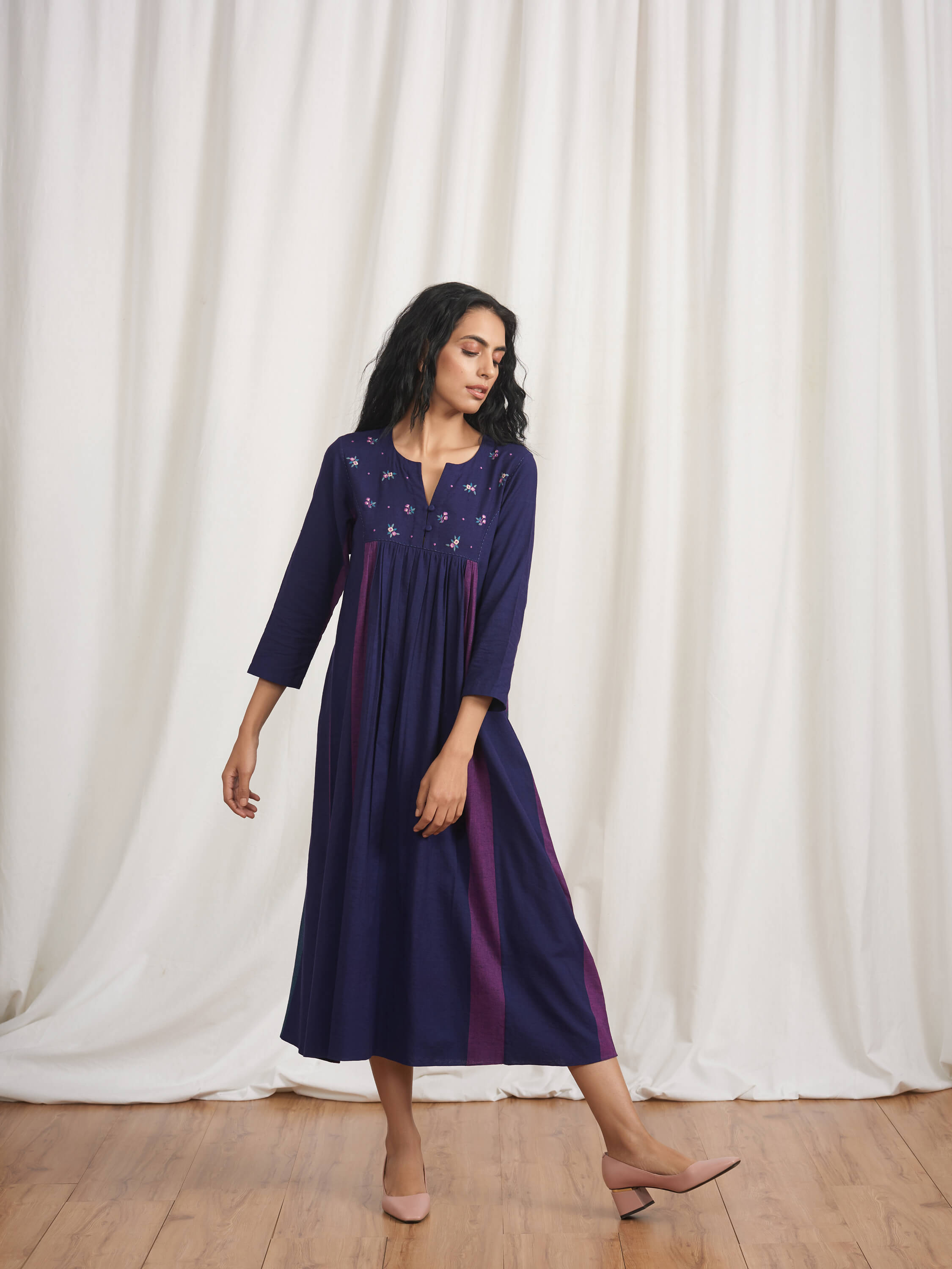 Silk Route Midi Dress - BunaStudio