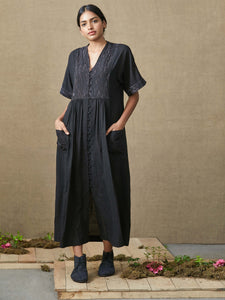 Sabi Charcoal Dress - BunaStudio