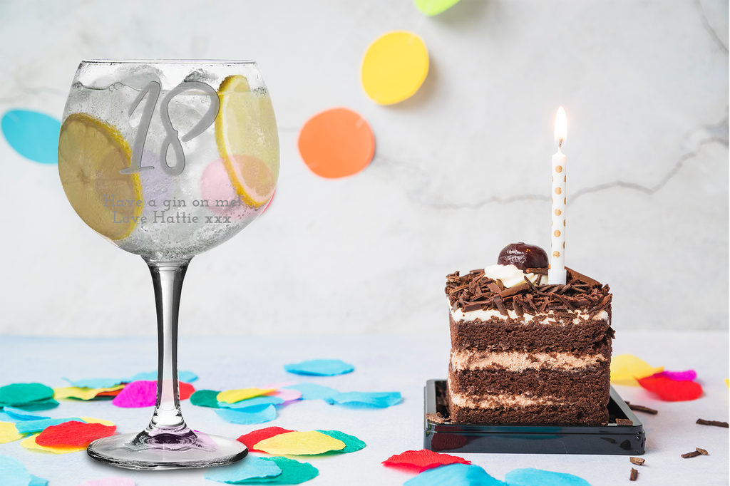 Personalised 18Th Birthday Balloon Gin Glass