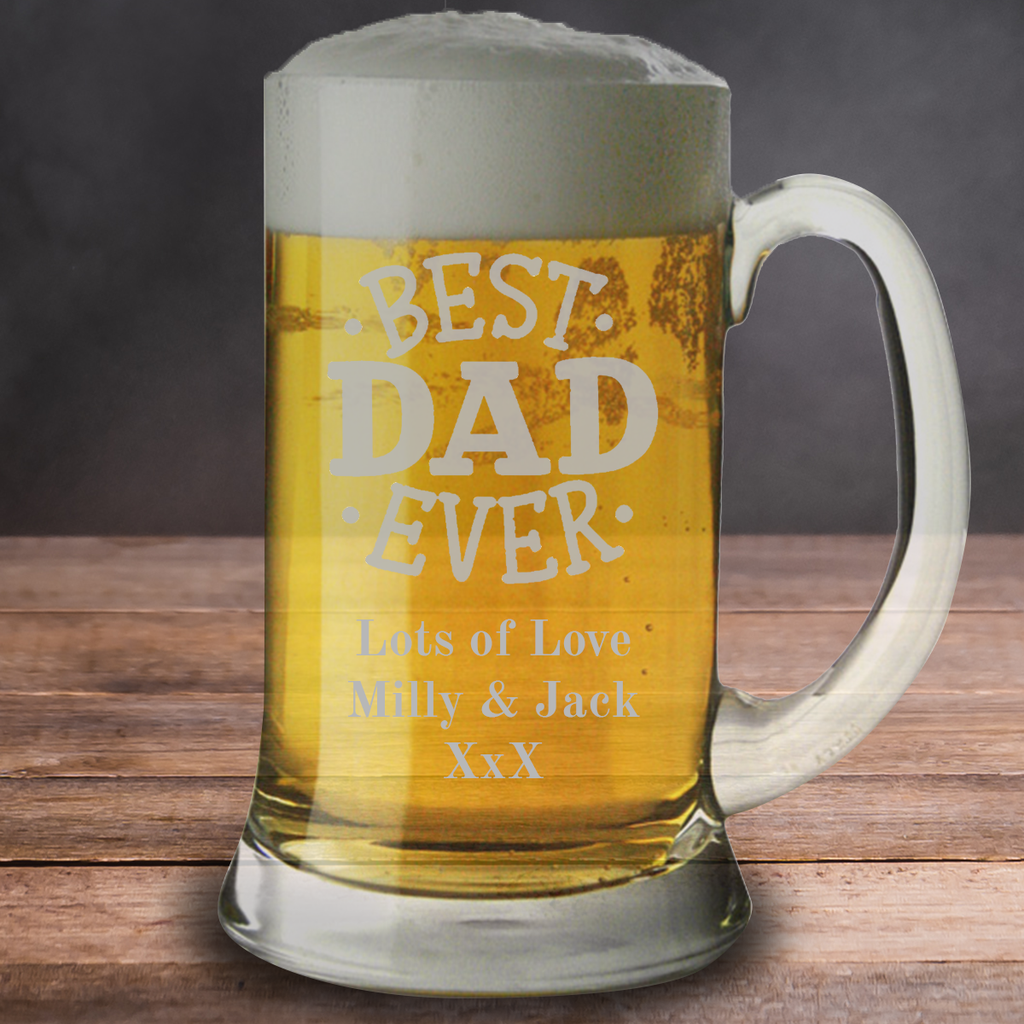 Best Dad Ever Father's Day Beer Tankard Pint Glass Mug