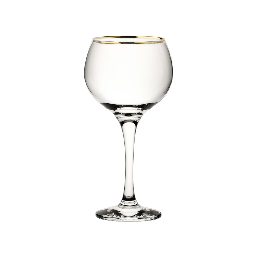 Gold Rimmed Balloon Gin Glass 56cl