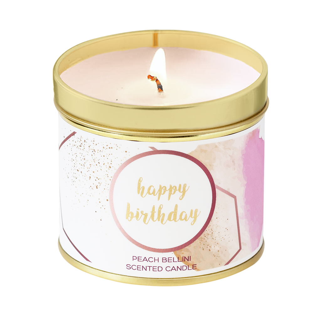 Happy Birthday Scented Tin Candle