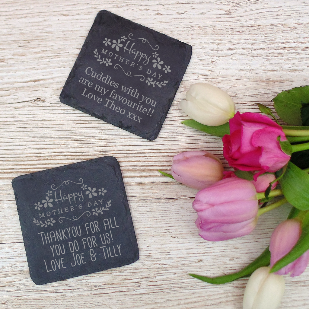 Happy Mother's Day Slate Coaster
