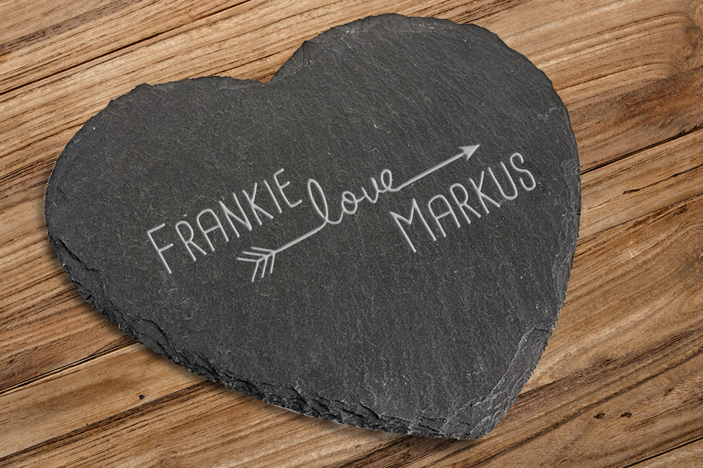 Natural Slate Heart Board