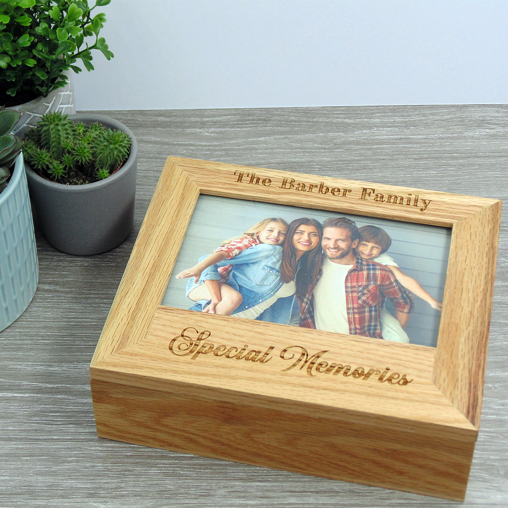 Luxury Oak Photo Memory Box