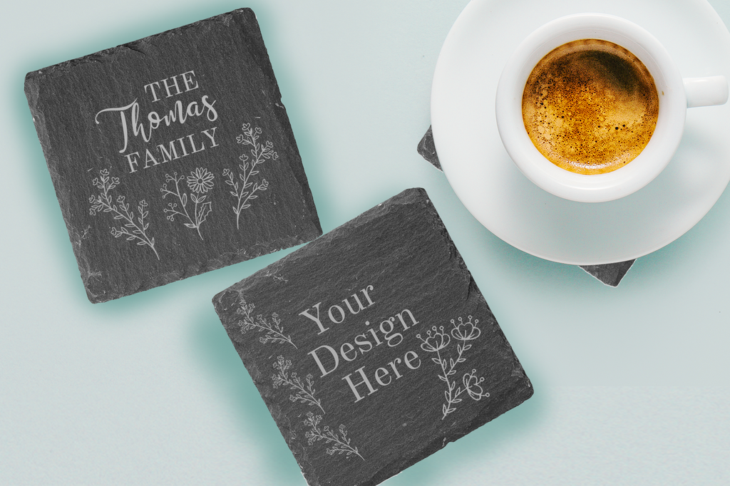 Personalised Natural Slate Coaster