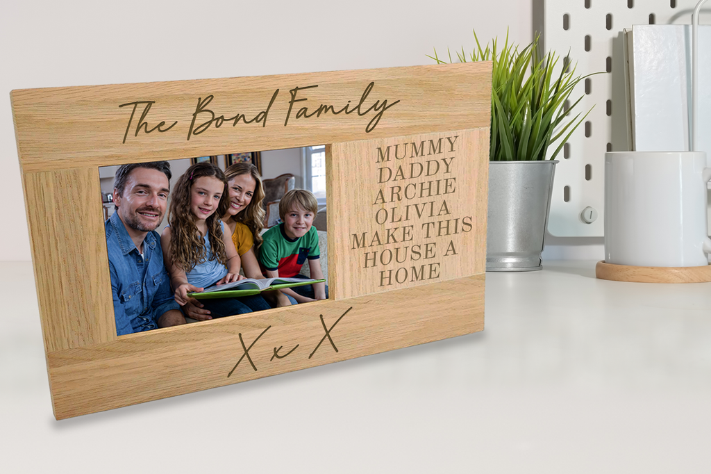 "Solid Oak 6""x4"" Photo Frame"