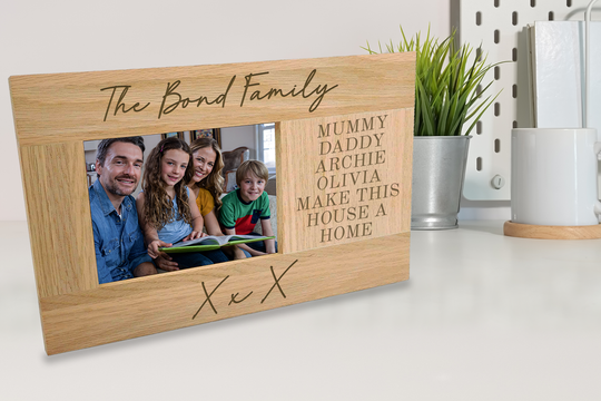 Personalised Oak Photo Frame Gift For Your Nan