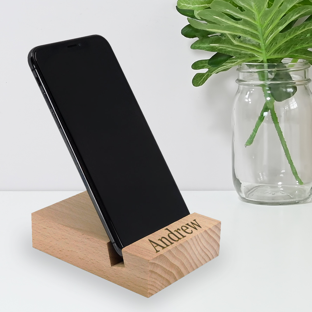 Solid Beech Phone Stand