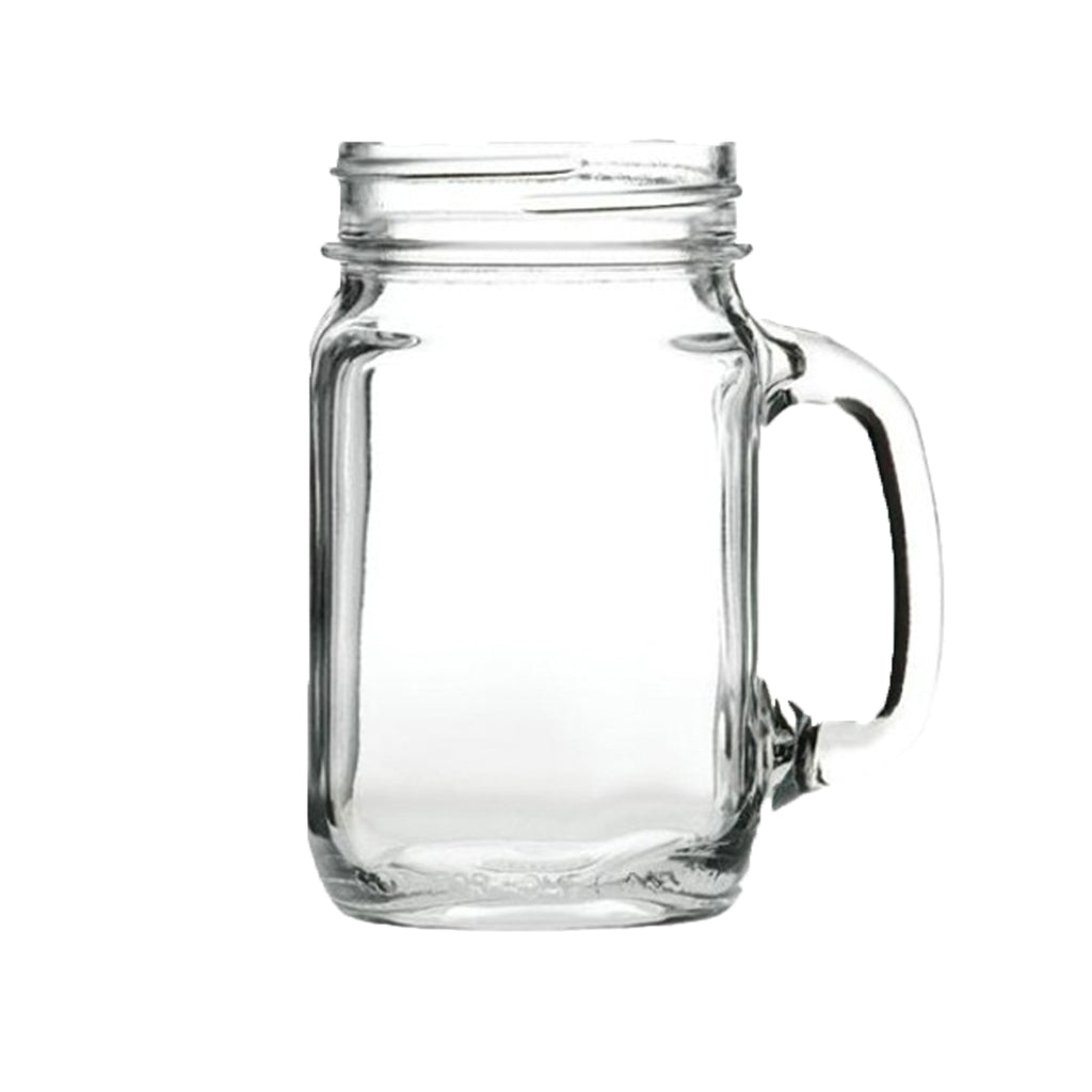 Original Handled Drinking Jam Jar 46cl Glass