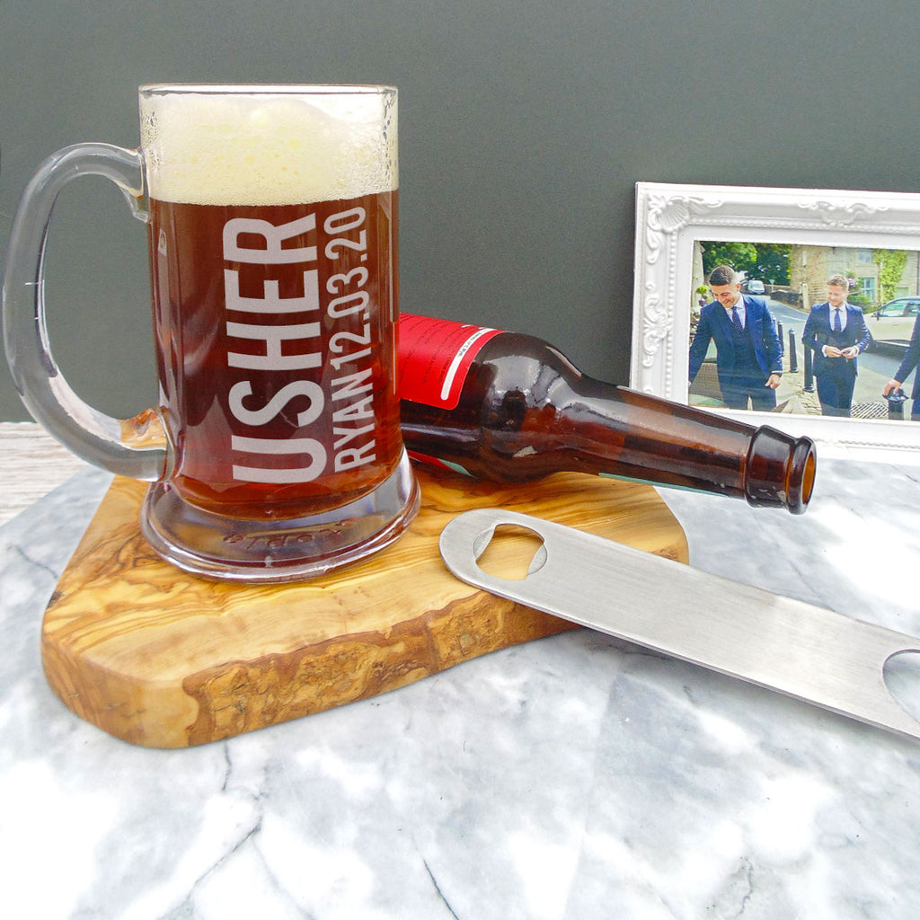 Best Man/Usher Beer Stein