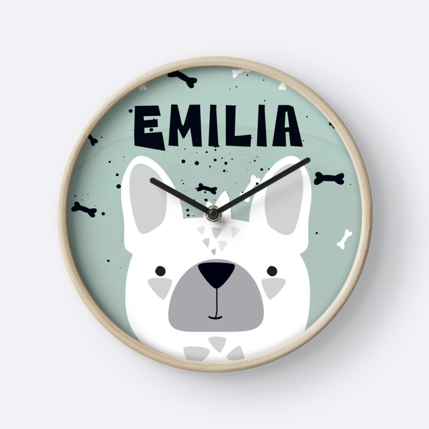 Frenchie — Wall Clock / Pick and Name it