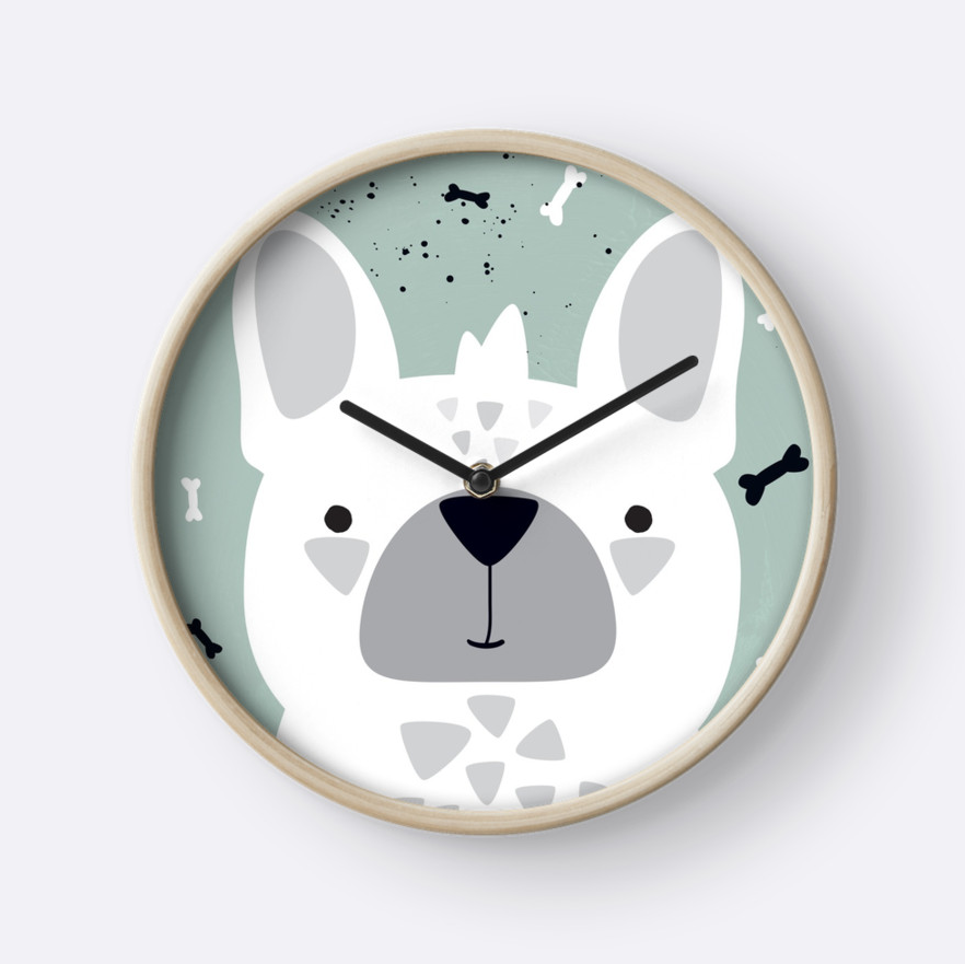 Frenchie — Wall Clock