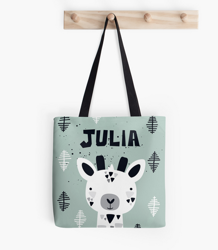 Tiny Giraffe — Tote Bag / Pick and Name it