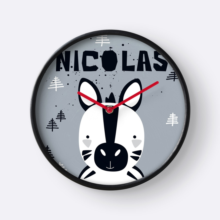Little Zebra — Wall Clock / Pick and Name it