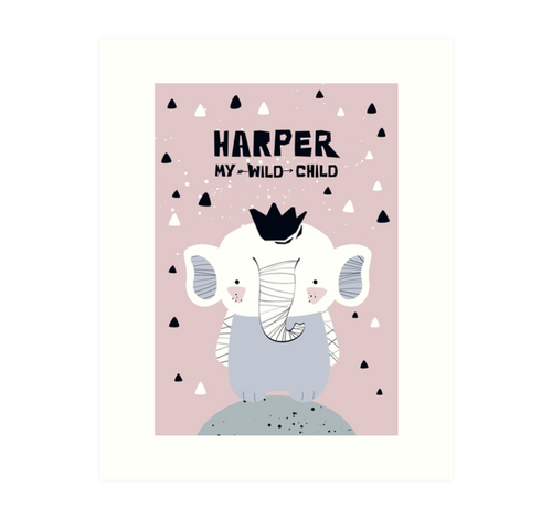 Baby Elephant — Art Print / Pick and Name it