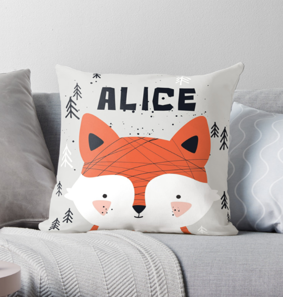Baby Fox — Cushion / Pick and Name it