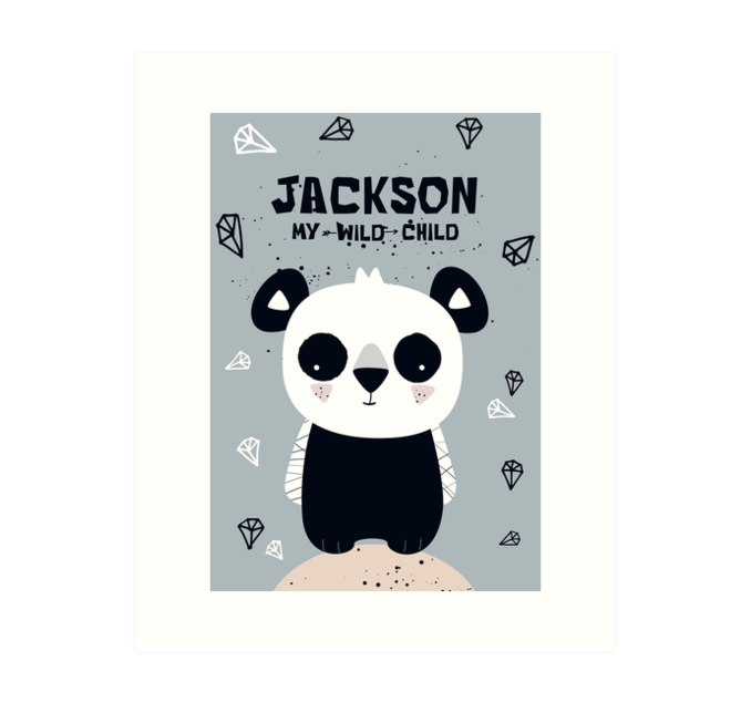 Panda Cub — Art Print / Pick and Name it