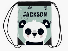 Panda Cub — Large Drawstring Bag / Pick and Name it