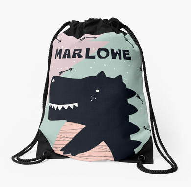 Baby Dino — Large Drawstring Bag / Pick and Name it