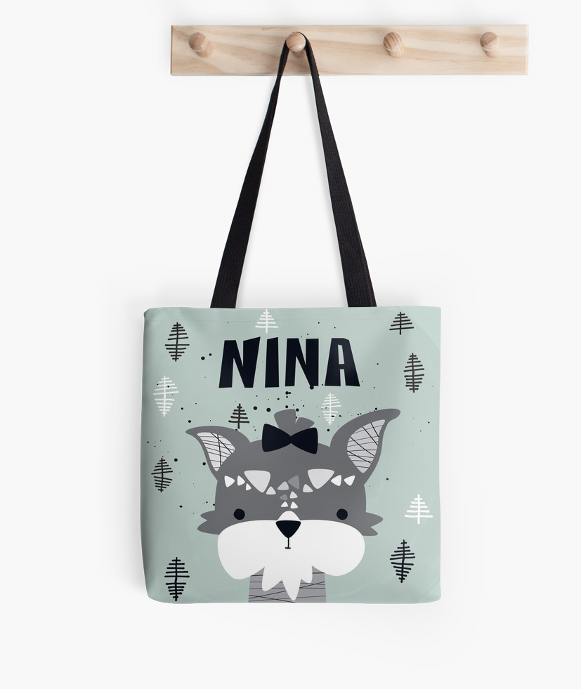 My Puppy Schnauzer — Tote Bag / Pick and Name it