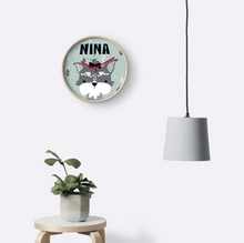My Puppy Schnauzer — Wall Clock / Pick and Name it