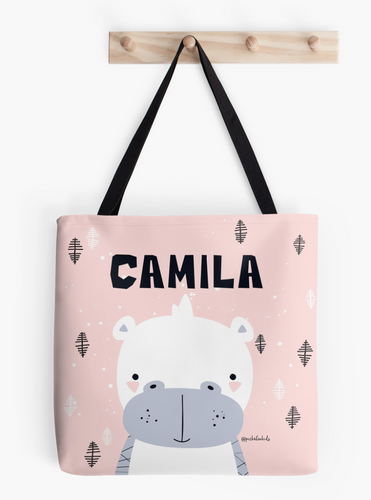 Baby Hippo — Tote Bag / Pick and Name it