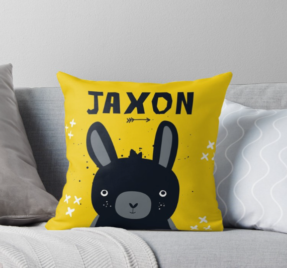 Baby Bunny Blacky — Cushion / Pick and Name it