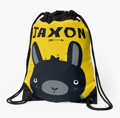 Baby Bunny Blacky — Large Drawstring Bag / Pick and Name it