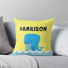 Baby Blue Whale — Cushion / Pick and Name it