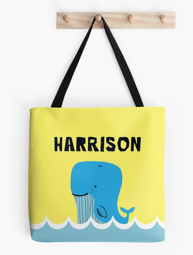 Baby Blue Whale — Tote Bag / Pick & Name it