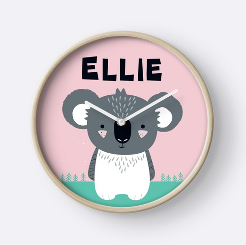 Baby Koala — Wall Clock / Pick and Name it