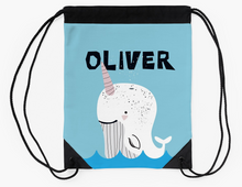 Baby Narwhal — Large Drawstring Bag / Pick and Name it