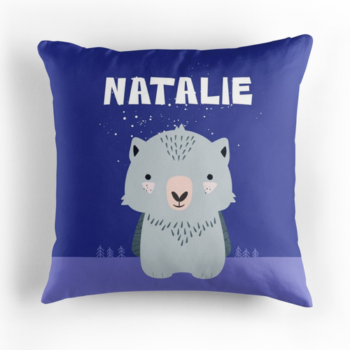 Baby Wombat — Cushion / Pick and Name it