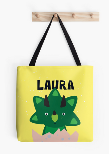Baby Triceratops — Tote Bag / Pick and Name it
