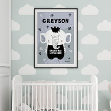 Baby Elephant/Grey — Art Print / Pick and Name it