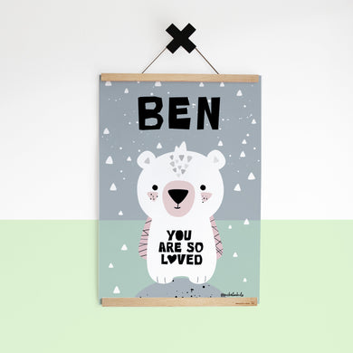 Polar Cub/You Are So Loved — Art Print / Pick and Name it