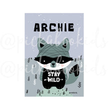 Baby Raccoon/Stay Wild — Art Print / Pick and Name it