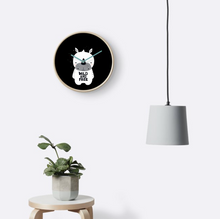 Baby White Rhino (Wild And Free) — Wall Clock / Pick and Name it