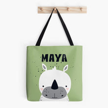 Baby White Rhino — Tote Bag / Pick & Name it