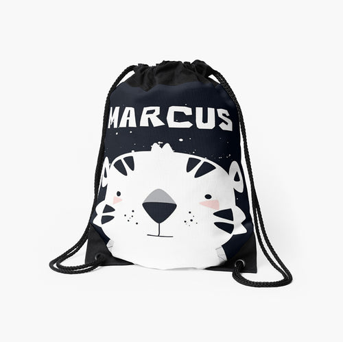 Baby Tiger — Large Drawstring Bag / Pick and Name it