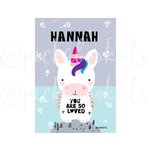 Baby Unicorn / 'You are so Loved' — Art Print / Pick and Name it