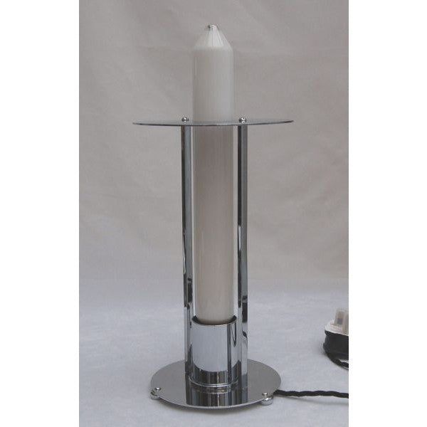 Modernist 'Rocket' Chrome Table Lamp